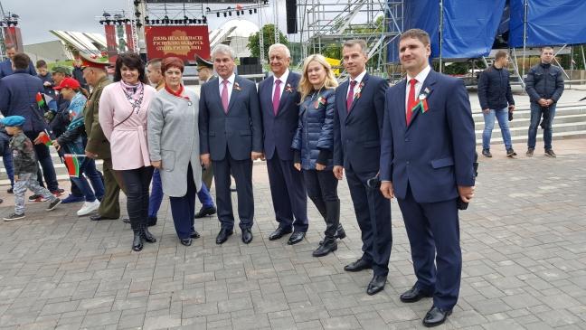 После парада, посвященного Дню независимости Республики Беларусь, 03 июля 2018 года