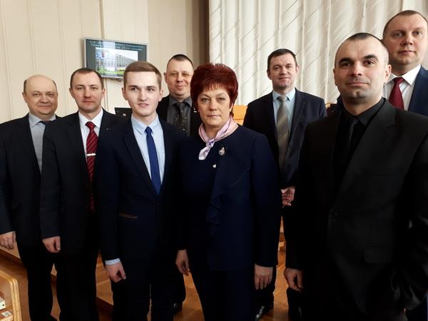 С депутатами Мингорсовета 28 созыва, март 2018 года