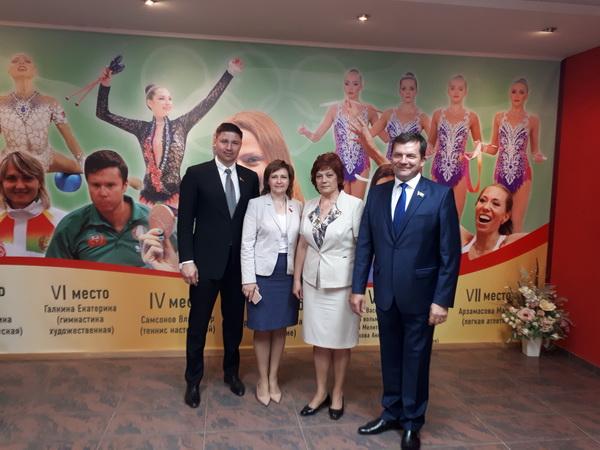 С коллегами в Национальном олимпийском комитете Республики Беларусь