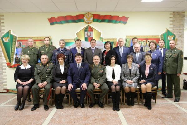 С коллегами на выездном заседании в Институте пограничной службы, ноябрь 2017