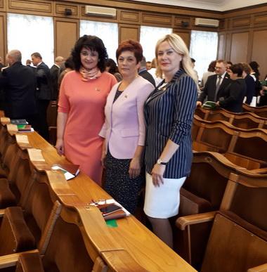 Перед началом заседания четвертой сессии ПпНсРБ шестого созыва, июнь 2018 года