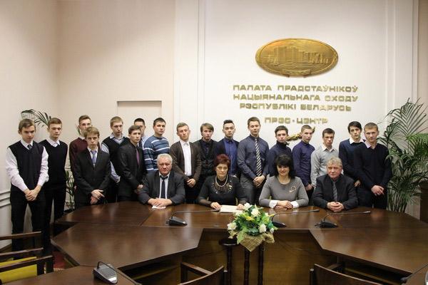 Встреча с молодыми избирателями Минского государственного профессионального лицея № 9 автомобилестроения, декабрь 2017 года