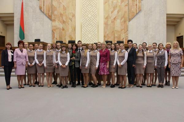 Встреча 1 сентября 2017 года со студентами Минского городского педагогического колледжа