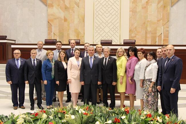 С коллегами на закрытии шестой сессии Палаты представителей 28 июня 2019 года